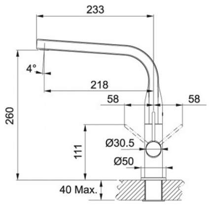 Смеситель для кухонной мойки Franke Sinos сталь 115.0260.567 хром