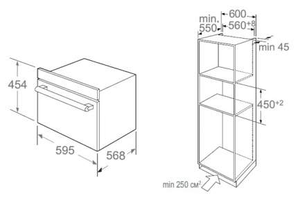 Встраиваемый электрический духовой шкаф Midea TF944EG9-WH White