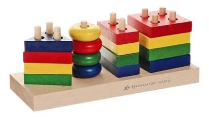 Конструктор деревянный Краснокамская игрушка Геометрик
