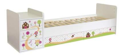Кровать-трансформер Фея 1100 Пряничный домик белый