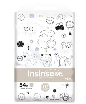 Подгузники INSINSE V6 трусики (15+ кг) 54 шт. супертонкие XXL (4)