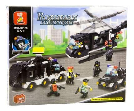 Конструктор Военная полиция Вертолет, фургон и джип Sluban Г28706