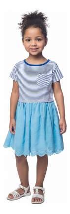 Платье Play Today в полоску голубое