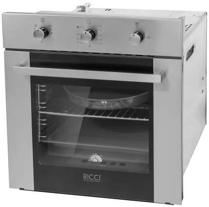Встраиваемый газовый духовой шкаф RICCI RGO-640IX Silver/Black