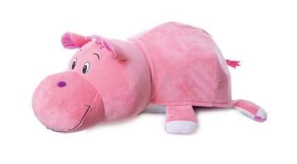 Мягкая игрушка 1 TOY Вывернушка 76 см 2 в 1, Радужная Зебра-Розовый Гиппопотам (Т12038)