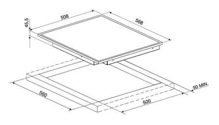 Встраиваемая варочная панель электрическая Smeg SE364ETFX Black
