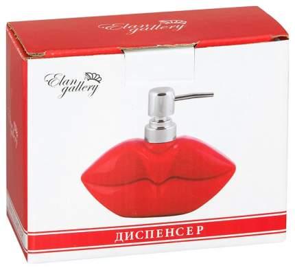 Дозатор для жидкого мыла Elan Gallery «Губы алые» Красный