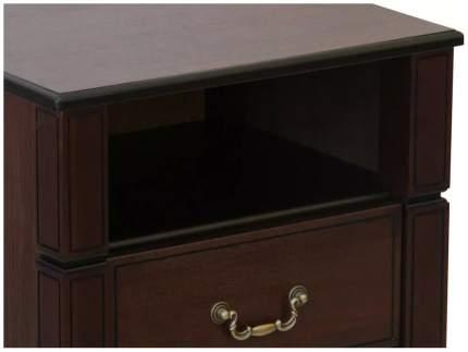Тумба прикроватная приставная Мебелик Васко В 116Н 50x42x62 см, темно-коричневый