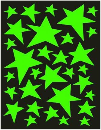 Наклейка декоративная для детской комнаты Звездное небо Веселые звездочки светятся