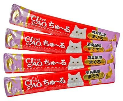 Лакомство для кошек Premium Pet Japan на основе желтоперого тунца и японского чая 56 г