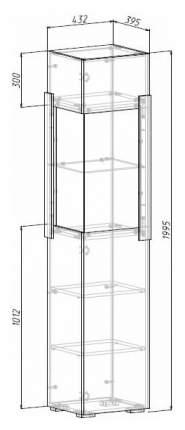 Платяной шкаф МФ Мелания MEL_1717 199,5х48,8х39,5, белый/дуб сонома