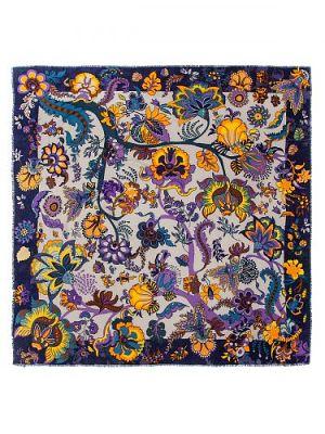 Платок женский Eleganzza D34-1220 фиолетовый/желтый