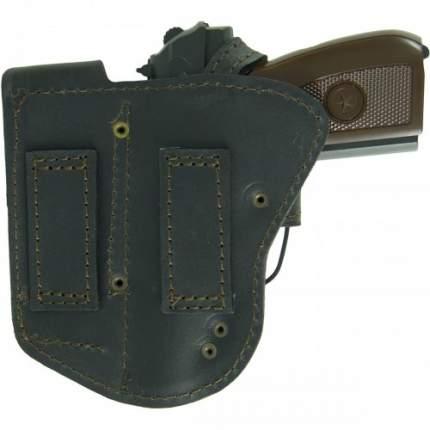 Кобура Tiger поясная Комби для пистолета ПМ с дополнительным магазином кожаная черная
