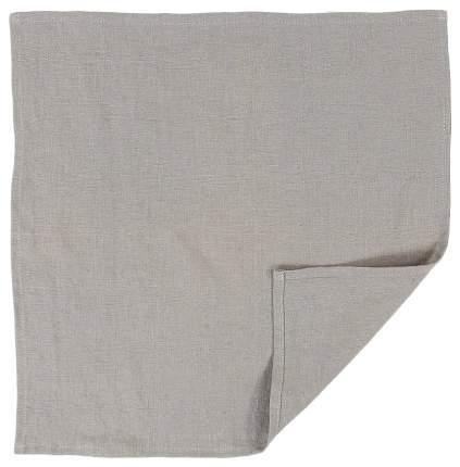 Сервировочная салфетка из умягченного льна серого цвета Essential 45х45