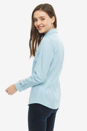 Рубашка женская Tommy Hilfiger WW0WW25269 474 голубая 8 US