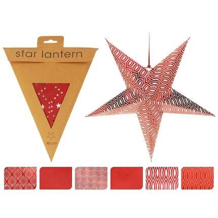 Koopman Объемная звезда из бумаги Изысканная 40*17 см красные узоры A59103820