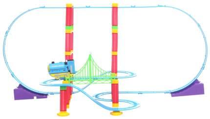 Трек Yako Toys с мёртвой петлёй Сказочные горки со световыми эффектами 74 детали