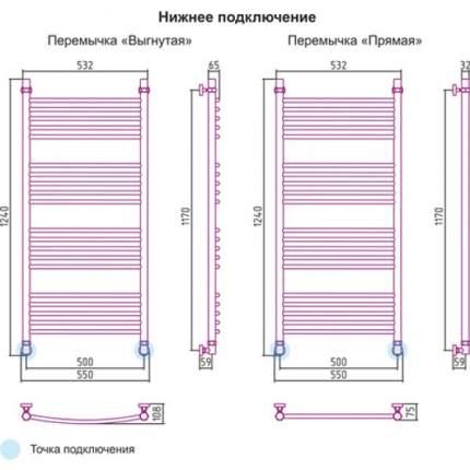 Водяной полотенцесушитель Сунержа 05-0102-1250