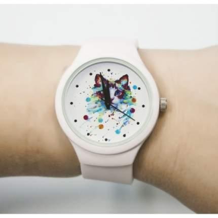 """Часы наручные """"Кошечка"""", цвет: белый"""