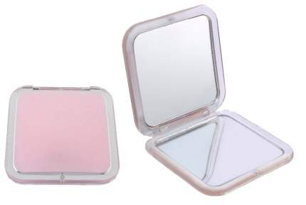 Зеркало карманное N.1 квадратное Розовое