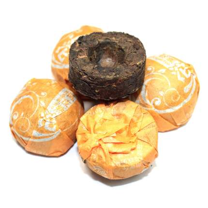 Чай Чайный лист то ча с цедрой апельсина шу 5 штук