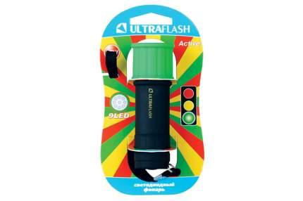 Туристический фонарь Ultraflash LED15001-C черный/зеленый, 1 режим