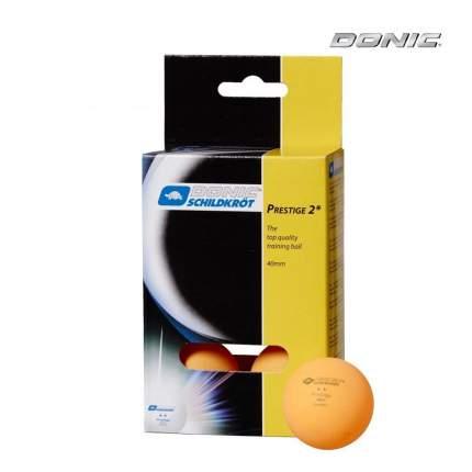 Мячи для настольного тенниса Donic Prestige 2 оранжевые, 6 шт.