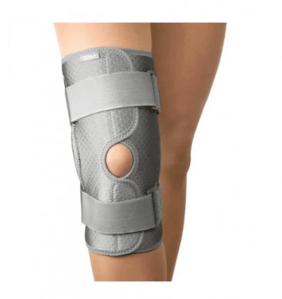 Бандаж B.Well W-3320 на коленный сустав c шарнирами согревающий р.XXL серый