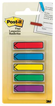 клейкие закладки-стрелки Post-it, 12мм, 5 цв.*20 шт