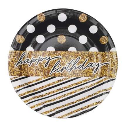Набор  одноразовой посуды  Патибум Happy Birthday Голливуд