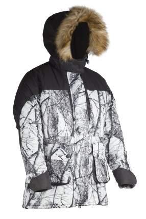 Костюм для рыбалки женский Huntsman Карелия, белый лес/ветки/черный, 52-54 RU, 170-176 см