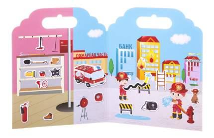 Набор наклеек нано-стикер пожарная команда, Bondibon 19х24 см