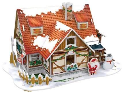 Модель для сборки cubic fun Рождественский домик с подсветкой