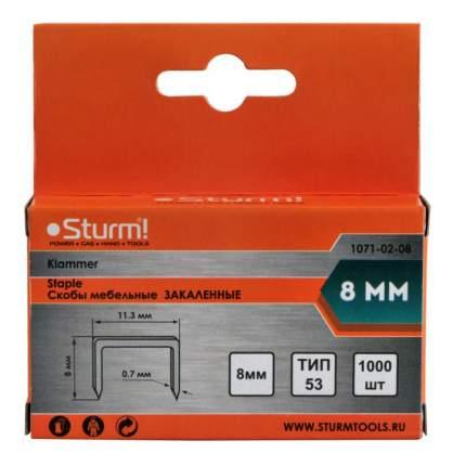 Скобы для электростеплера Sturm! 1071-02-08