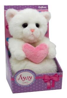Мягкая игрушка Gulliver Кошечка Лулу, 20 см с сердечком