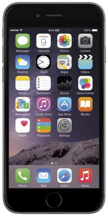 Смартфон Apple iPhone 6 Plus 64Gb Space Gray (FGAH2RU/A) восстановленный