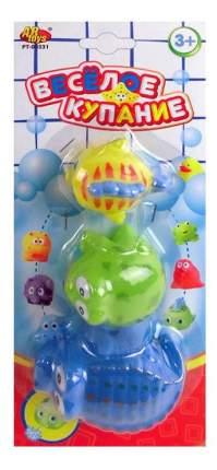 Веселое купание. набор резиновых зверьков для ванной pt-00331