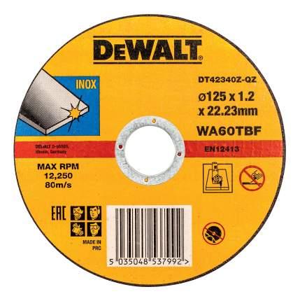 Диск отрезной абразивный по прочим материалам DeWALT DT42340Z-QZ