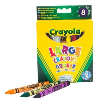 Crayola 8 Больших Смываемых Восковых Мелков
