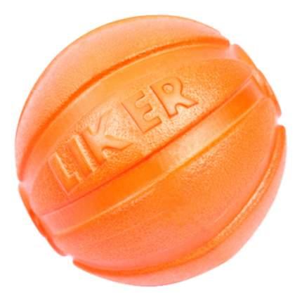 Мяч для собак LIKER, резина, пластик, нейлон, хлопок, 7 см