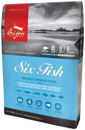 Сухой корм для кошек Orijen Six Fish, 6 видов рыбы, 2,27кг