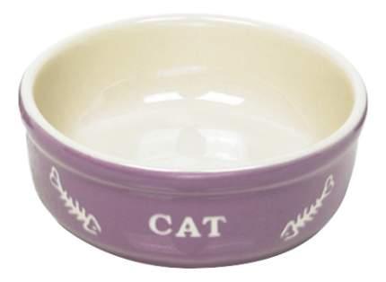 Одинарная миска для кошек Nobby, керамика, фиолетовый, 0.24 л