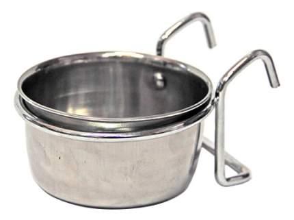 Одинарная миска для кошек и собак Хорошка, металл, серебристый, 0.3 л
