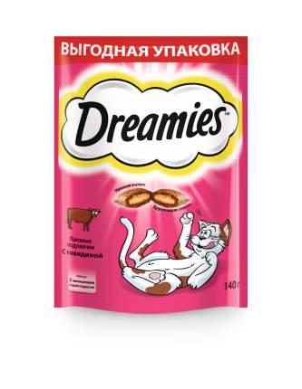 Лакомство Dreamies для взрослых кошек с говядиной, 140г