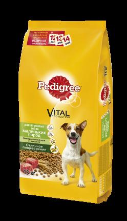 Сухой корм для собак Pedigree Vital Protection для маленьких пород, говядина, 13кг