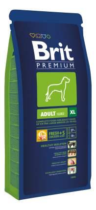 Сухой корм для собак Brit Premium Adult XL, гигантских пород, курица, 15кг