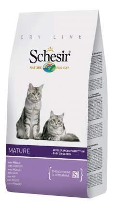 Сухой корм для кошек Schesir Dry Line Mature, для пожилых, курица, 0,4кг