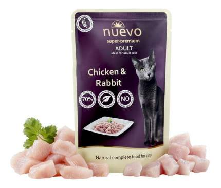 Влажный корм для кошек nuevo, курица, кролик, 16шт, 85г