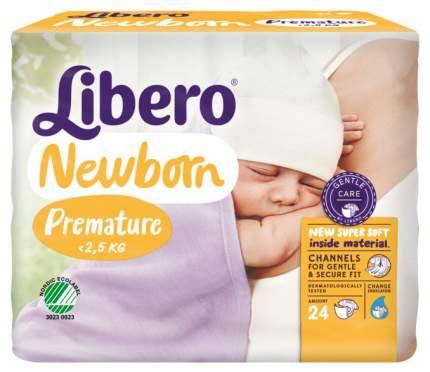 Подгузники для новорожденных Libero Newborn 0 (0-2,5 кг), 24 шт.