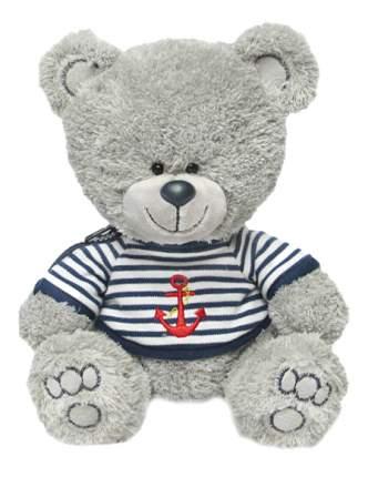 Мягкая игрушка LAVA Медвежонок Ники в матроске с якорем музыкальный 21,5 см